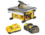 Scie à table DEWALT - FLEXVOLT - 54 V XR - 2 Batteries, chargeur - DCS7485T2