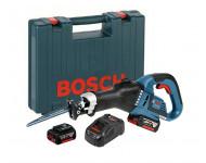 Scie sabre GSA 18V-32 BOSCH - 2 batteries Li-Ion 5Ah - 06016A8106