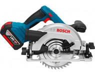 Scie circulaire GKS 18V-57 G pour bois BOSCH - 2 batteries + chargeur - en L-Boxx - accessoires - 06016A2106