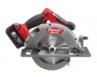 Scie circulaire MILWAUKEE M18CCS66-502X - 18V 5.0Ah Li-Ion + 2 batteries, chargeur, coffret - 4933451384