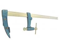 Serre joint charpentier URKO - serrage 400mm - saillie 120mm - rail 35x8mm - 4003J