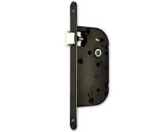 Coffre axe 40 NF MV5 métalux clé L droite noir même variure EURO-ELZETT - sans gache réversible - G840E077K4