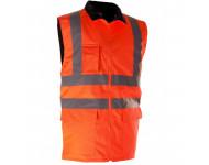 Gilet Haute visibilité Orange SINGER - Doublé polaire - GANO