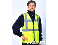 Gilet Haute visibilité Jaune Multi-poches SINGER - GARA