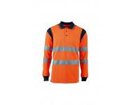Polo Haute Visibilité Orange manches longues SINGER - PUNTA