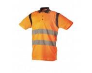 Polo Haute Visibilité Orange manches courtes SINGER - PAULO