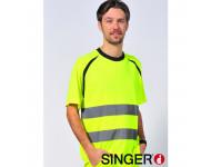 Tee-shirt Haute Visibilité Jaune SINGER - SUZE