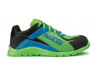 Chaussure de sécurité S24 SPARCO Pratice - Noir vert/bleu - 07517