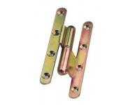 Paumelle bouts ronds à bague coudée TORBEL - 140x60x70 mm - Coudage 90° - Droite - J532940