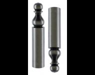 Paire cache-fiche rustique n°16 BROS pour Exacta Ø14 H.80mm fer noir - CF-16-A-EX14-5