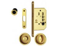 Set 1: serrure porte coulissante + cuvette + doigt de tirage HOPPE M492 condamnation - laiton poli F71 - 1912829