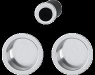 Set5 pour portes coulissante HOPPE 4920 - chromé brillant - 3947857