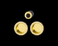 Serrure+cuvette+doigt 4920 aveugle HOPPE pour porte coulissante - doré brillant - 3947831