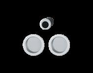 Set5 pour portes coulissante HOPPE 4920 - aluminium satiné - 3947849