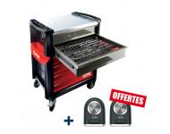 Servante d'atelier CAM CPP-220M4Z - 220 outils 6 tiroirs + 2 enceintes offertes - CPP-220M4Z