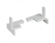 Sachet de 5 pré-accessoires pour dormant BILCOCQ - rehau gris pour seuil PL60RT - hauteur 20 mm - PER60-L10-S