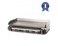Plancha à gaz TRIO 3 feux - Plaque et caisson INOX - TR2