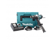 Perceuse visseuse à percussion MAKITA 2 batteries 18V 5.0 Ah, chargeur, coffret - Ø13mm - DHP458RTJ
