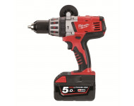 Perceuse à percussion MILWAUKEE 28V 5Ah Li-ion HD28 PD-502X - 4933448544