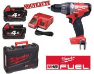 Perceuse visseuse MILWAUKEE Fuel M 18 CDD-402C 18V + 2 batterie 4.0ah Li-Ion,  Chargeur, en coffret - 4933440537