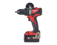 Perceuse visseuse MILWAUKEE M18 BLDD2-502X - 2 batteries 18V 5.0 Ah, chargeur, en coffret - 4933464515
