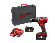 Perceuse visseuse MILWAUKEE M18 BDD-402C 18V + 2 batteries 4.0Ah, chargeur, en coffret - 4933443565