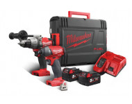 Pack Fuel 18V MILWAUKEE Perceuse percussion M18 FPD + Visseuse à chocs M18 FID + 2 Batteries 5Ah - 4933451075