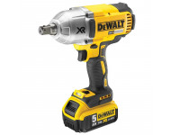 Boulonneuse à chocs DEWALT 18V 5.0Ah - XR Brushless 3 vitesses - 950Nm - DCF899P2