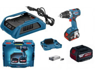 Perceuse-visseuse BOSCH GSR 18V-EC - 2 Batteries 4.0Ah + Chargeur induction, coffret - 0615990h61