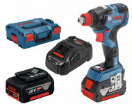 Boulonneuse GDX 18V-200 C BOSCH - 2x5.0Ah + Procore 18V 4.0Ah - 0615990K7G