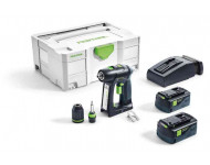 Perceuse visseuse FESTOOL sans fil C 18 Li-Ion 5.2Ah Plus - 2 Batteries, chargeur, coffret - 574738