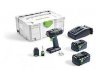 Perceuse visseuse FESTOOL T 18+3 PLUS - 2 Batteries, chargeur, coffret Systainer 2 - 574756