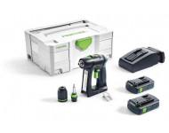 Perceuse visseuse FESTOOL C18 - 2 Batteries 18V 3.1Ah, chargeur, mandrin Centrotec - 574921