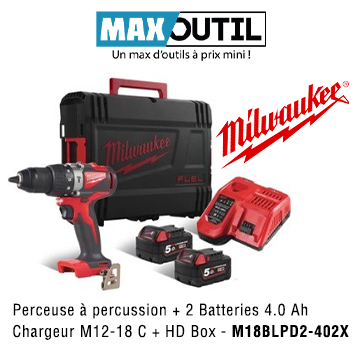 MIL00040 - Perceuse à percussion M18BLPD2-402X MILWAUKEE