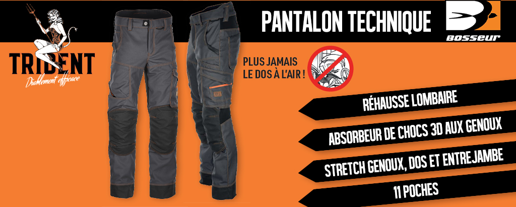 Pantalon Trident BOSSEUR