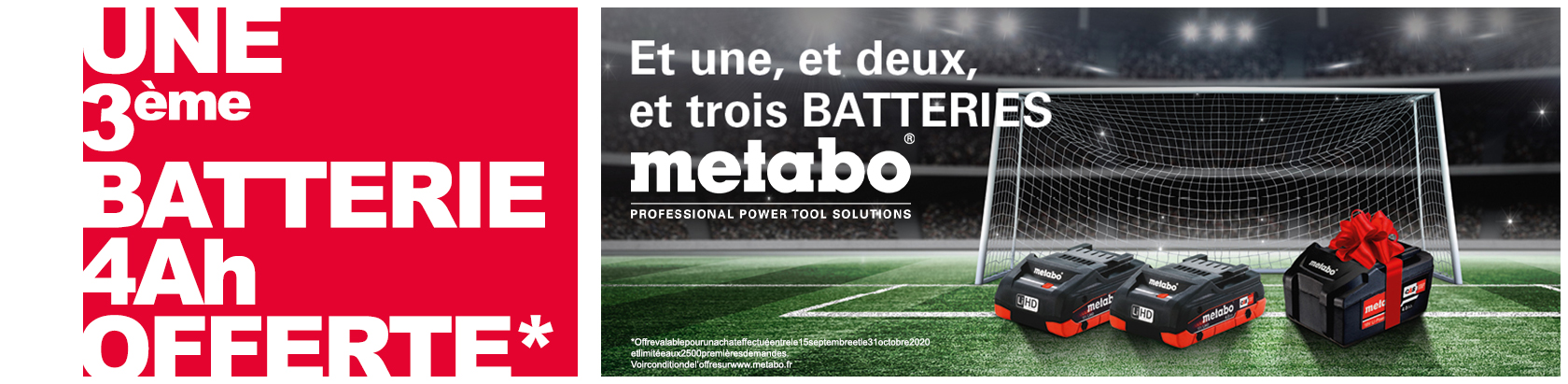 Offre batteries METABO