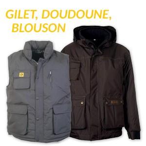 Gilet, doudoune, blouson BOSSEUR