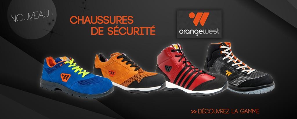 Chaussures de sécurité orange west