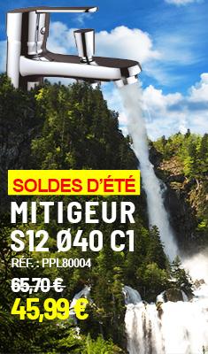 Mitigeur CLEVER S12 Ø40 C1 - Monotrou - Pour bain/douche - 99178