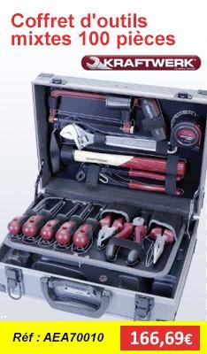 Coffret d'outils mixtes 100 pièces KRAFTWERK