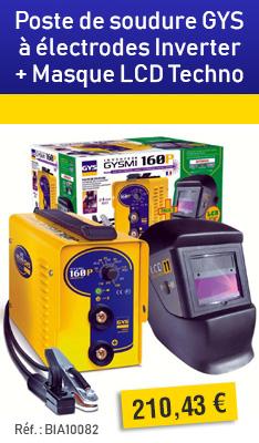 Poste de soudure GYS à électrodes Inverter - GYSMI 160P + Masque LCD Techno 11 - 030435
