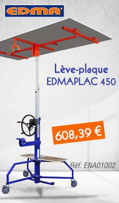 Lève plaque EDMA Nouvelle Génération - EDMAPLAC 450