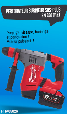Perforateur burineur MILWAUKEE M18-CHPX-902X - SDS-PLUS - 2 Batteries 18V 9.0Ah, en coffret - 4933451469