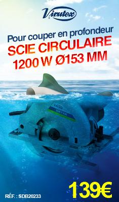 Scie circulaire VIRUTEX 1200 W Ø153 mm - SR74K
