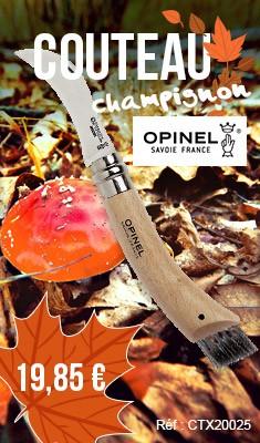 Couteau à champignon OPINEL N°8 Lame inox avec bague de sécurité - 1252
