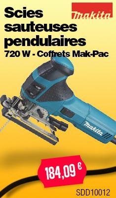 Scies sauteuses pendulaires MAKITA - 720 W - Coffrets Mak-Pac - QPE08449