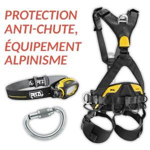 Protection anti-chute, équipement alpinisme Petzl